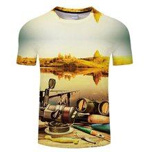 Xxxtentcaion スタイルカジュアルデジタル魚 3D プリント tシャツ男性女性 tシャツ夏半袖 O ネックのトップス & Tシャツアジアサイズ Tシャ(China)