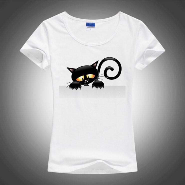 100 good 3d cartoon black cat t shirt women lovely super for Good t shirts brands