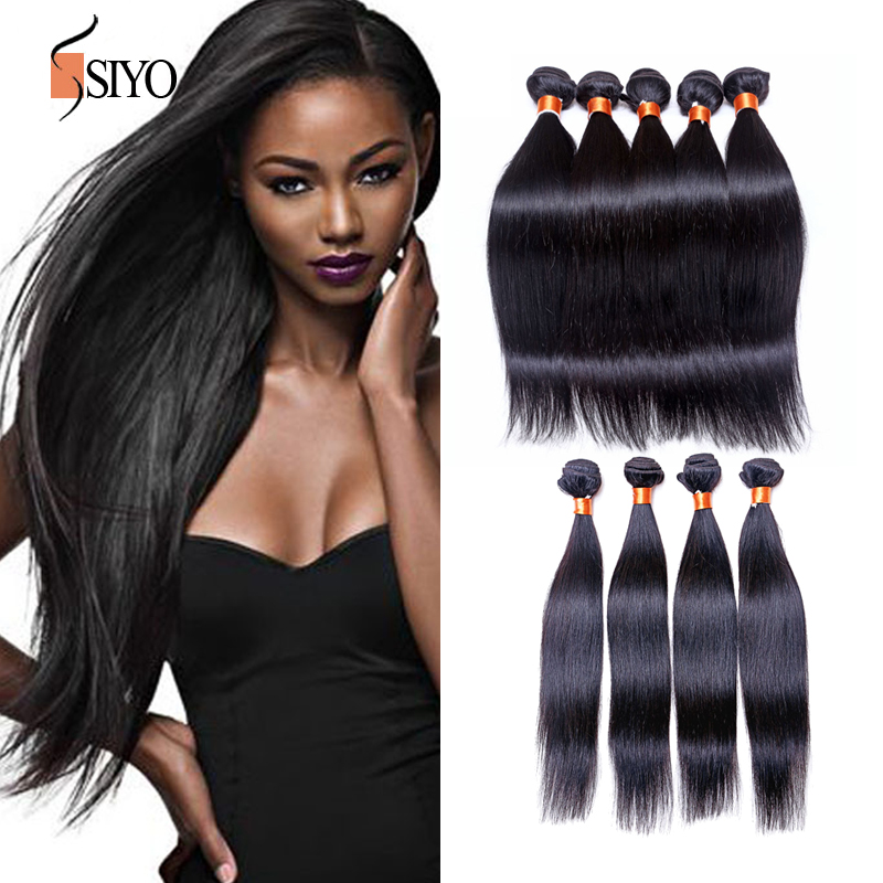 Unprocessed 6A Brazilian Virgin Hair Straight Brazilian Straight Human Hair Weave Brazilian Hair Bundles 1pc Lot Free shipping