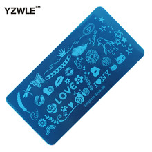 1 Sheet 6x12cm Simplism Style Stainless Steel Stamping Nail Art Image Plate, Polish Manicure Stencil Tool (SS-06)