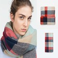Amazing New Arrival Wool Blend Blanket Oversized Tartan Winter Scarf Women Wrap Shawls and Capes Plaid