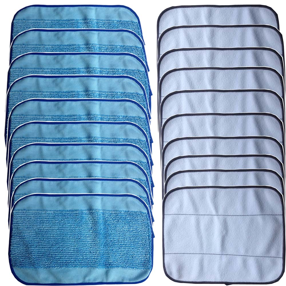 20-Pack Mixed Microfiber Mopping Cloths 10 wet + 10 dry for iRobot Braava 380 380t 320 Mint 4200 4205 5200 5200C Robot(China (Mainland))