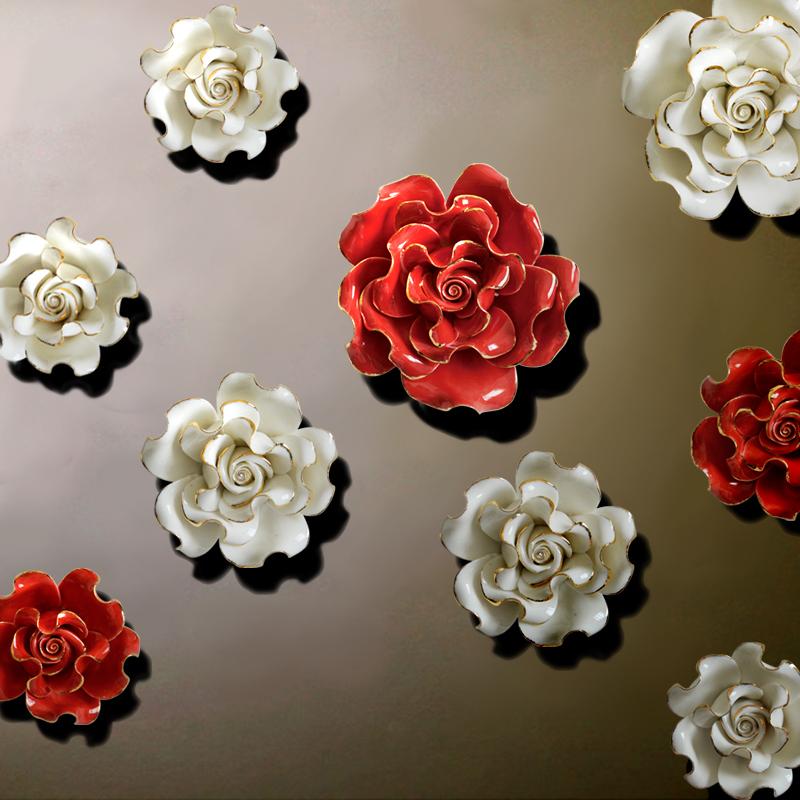 European style three dimensional wall flowers ceramic