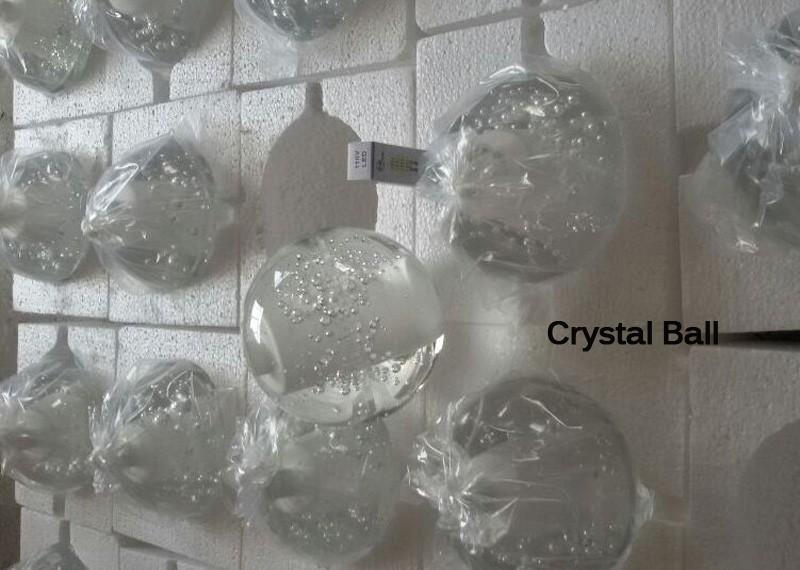 Купить 36 огни G4 ПРИВЕЛО Кристалл Стеклянный Шар Подвесной светильник AC110V 220 В AC12V100mm диаметр лампы Ресторан лестницы бар кафе droplight