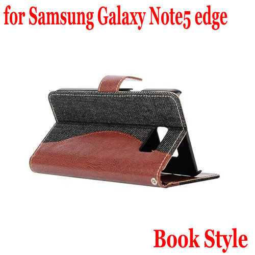 For Samsung Galaxy Note 5 edge Case Luxury New Leather Case for Samsung Galaxy Note 5 edge Flip Case Phone Cover(China (Mainland))
