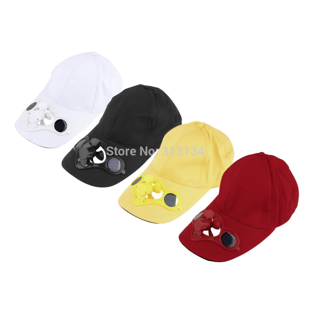 Fashion Sun Solar Power Hat Cap with Cooling Fan for Outdoor Golf Baseball Hot Sale(China (Mainland))