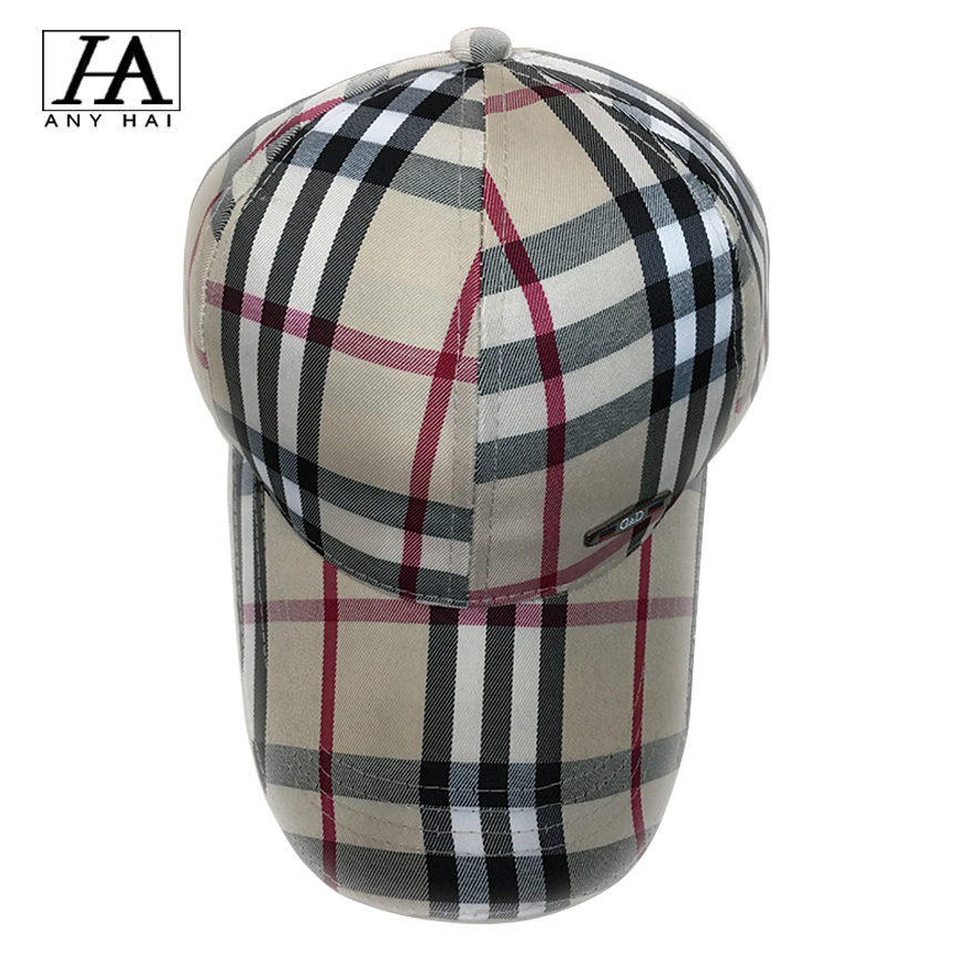 2016 New Brand Baseball Cap Gorras Snapback Caps Hats For Men Women Casquette Plaid Adjustable Bone Casual Snap Back B1211(China (Mainland))