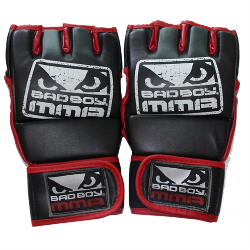 New Kick Boxing Gloves MMA Gloves Muay Thai Training Gloves MMA Boxer Fight Boxing Equipment Half Mitts Badboy PU Leather Black<br><br>Aliexpress