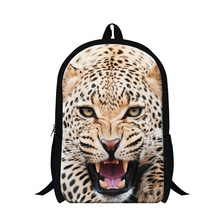 Buy Cool Leopard backpack teenager,Animal 3D print lion back pack boys,children fashion school bookbags bagpack schoolbags for $19.76 in AliExpress store