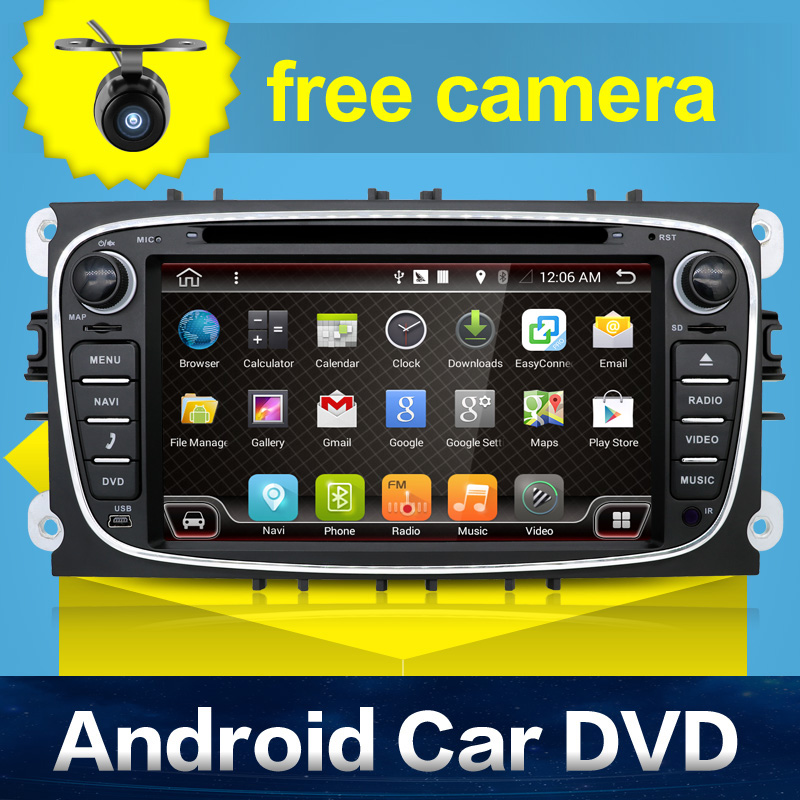 2 Din Android 6.0 Car dvd gps player Quad 4 Core for Ford,car stereo radio for Mondeo,Focus,built in GPS+Wifi+Bluetooth+USB+SD(China (Mainland))