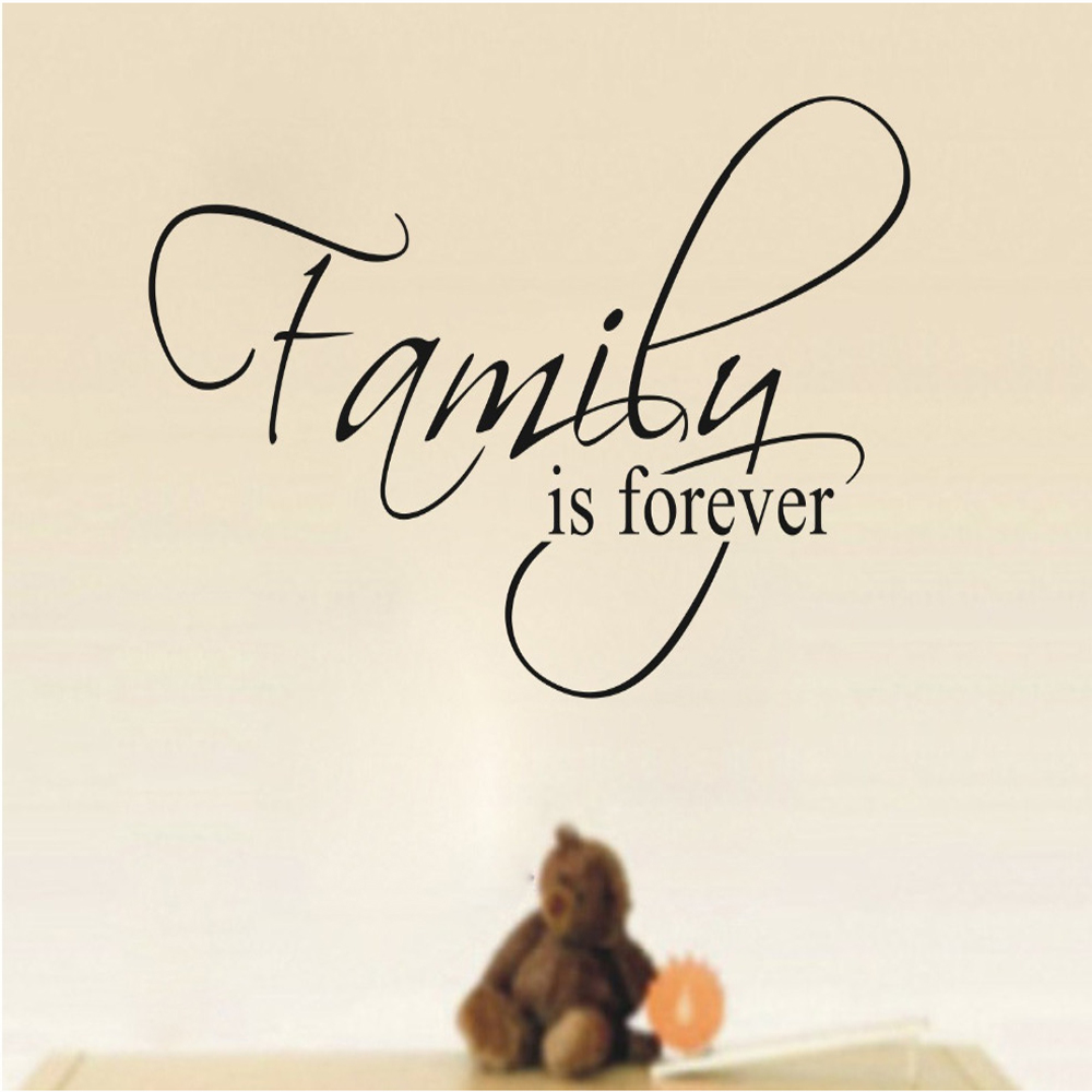 wall quotes Family Wall Decals Free Shipping /PVC