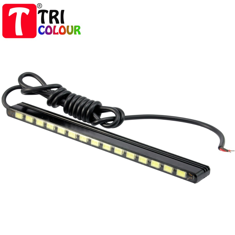 2015 new 15 LED 5730 SMD 6000k LED DRL Automobiles Car Driving Daytime Running Light Lamp White #LM151<br><br>Aliexpress