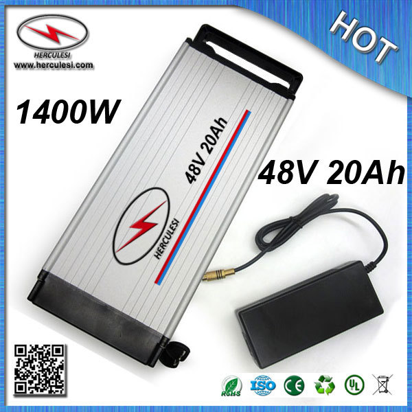 China manufacturer of Electric Bike Battery 48V 20Ah lithium ion battery 1000W built in 13S 30A BMS 3.7V 2.6Ah 18650 cell(China (Mainland))