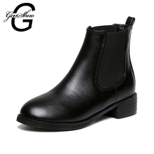 New Women Shoes Botas Hot 2015 Autumn Winter Botte Femme Black Chelsea Martin Boots Ankle Booties Zapatos Botas Mujer X798(China (Mainland))