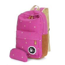 Cute Korean Style Double-Shoulder Book Bags Fashion Girls Women Canvas Dots Schoolbag Middle School Students Backpacks