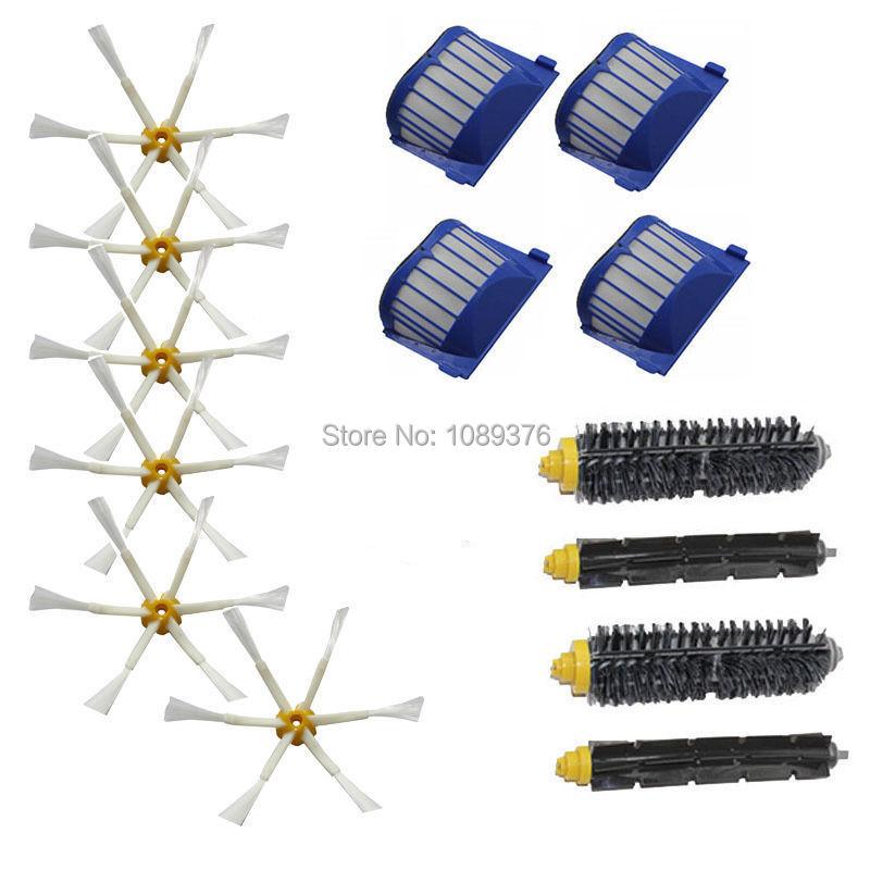 Free Post New AeroVac Filters 6 arm Brush for iRobot Vacuum Roomba 600 Series 620 630 650 660(China (Mainland))
