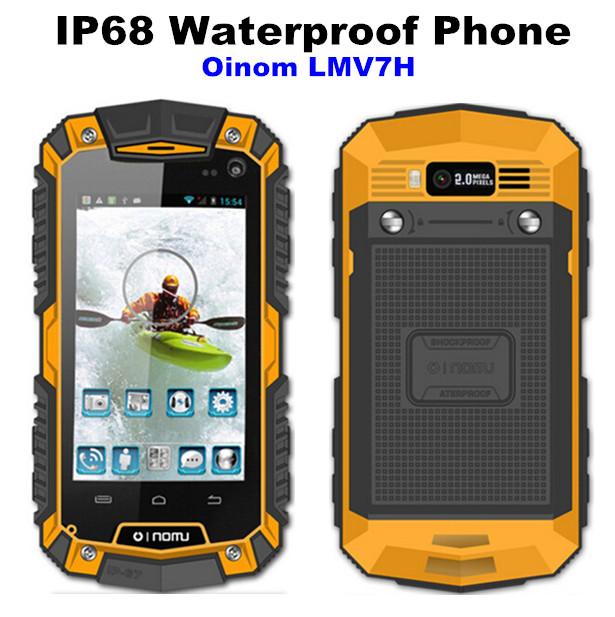 Oinom LMV7H LMV7 Mobile Phone MTK6572 Dual Core Android Gorilla Glass 3.5 IP68 Rugged Waterproof Phone 3G GPS V9 lmv9 lmv9h A8(China (Mainland))