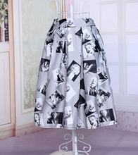free shipping 2015 new HOT 50s 40s Vintage HIGH WAIST Rockabilly Floral Cocktail Pinup SKIRT ladies printing skirts