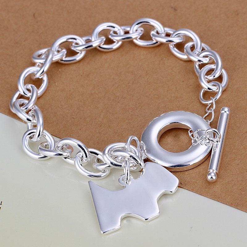 2015 new 925 sterling silver jewelry bracelet fine fashion TO dog tag pendant bracelets top quality SMTH276(China (Mainland))