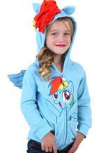 1PCS size 90 130 My little pony jacket Children s Coat Cute Girls Coat hoodies girls