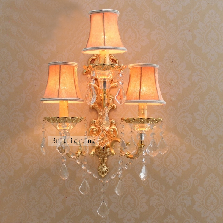 Unique Large Wall Sconces : decorative candle wall sconces large brass wall sconce hotel wall lighting with facbric shade ...