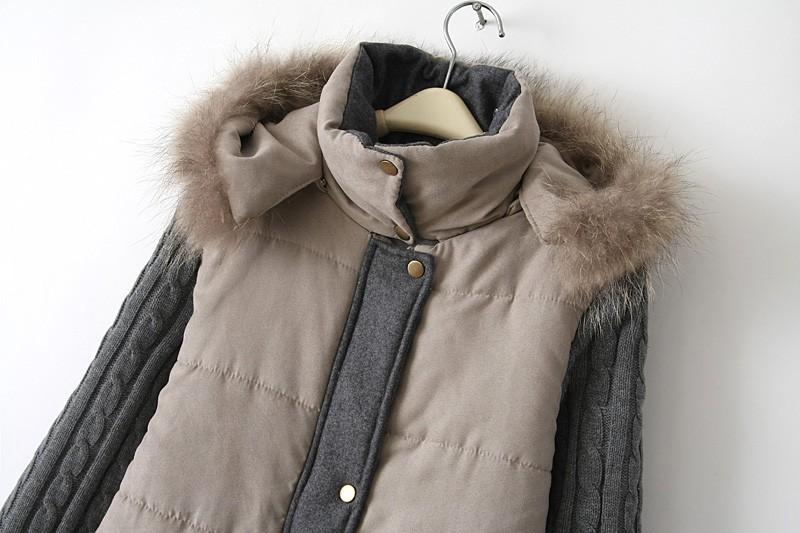Скидки на 2015 новых осенью и зимой в Европе и Америке заклинание цвет долго перо мягкий хлопок куртка толщиной колледж женский большой метров