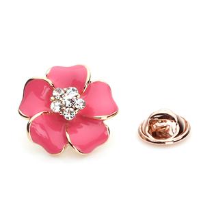 Brooch put the needle rhinestone brooch button corsage flower oil brooch fashion pins female(China (Mainland))