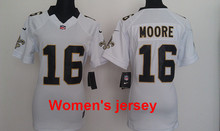 A+++ Women ladies all stitched New Orleans Saints ladies 9 Drew Brees 80 Jimmy Graham 10 Brandin Cooks 43 Darren Sproles(China (Mainland))