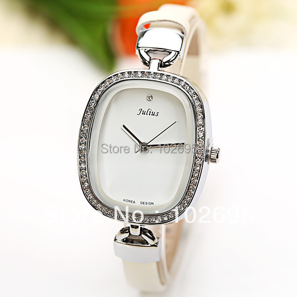 new 2013  PictureJulius Quartz Watch 1 Diamond Dot Hour Marks Leather Watch Band for Women  dress watches<br><br>Aliexpress
