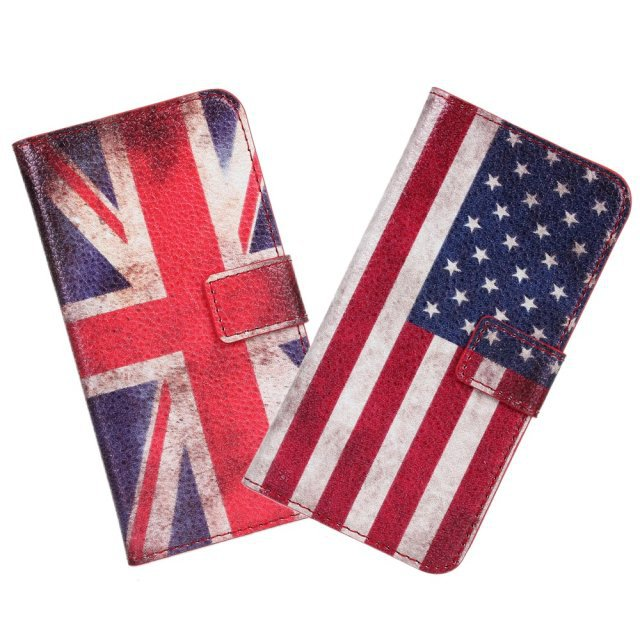 For HTC Desire 601 Cover Case Retro UK USA Flag Wallet Flip Leather Book Purse Mobile Phone Accessory Fundas For HTC Desire 601(China (Mainland))