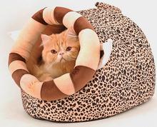 Новый кота собаки любимчика мода теплый мягкий Leopard дом doggy моющиеся осень зима кровать питомники щенок собаки кошки помета домашних животных продукты