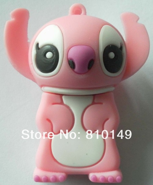 Standing pink Stitch usb flash drive 4GB 8GB 16GB 32GB 64GB  Free shipping