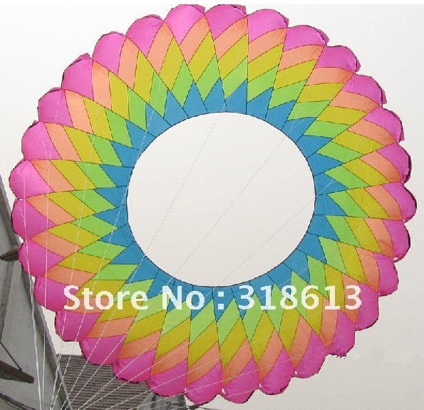 Free shipping diameter 5m colorful ring kite,soft inflatable kite