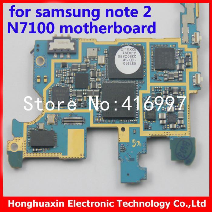 good working 16GB original mainboard for Samsung Galaxy note2 n7100 unlocked Motherboard EU version NOTE 2 N7100 logic board