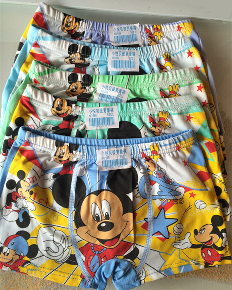 2015 New 10pcs/lot Children Underwear Boy Boxer Shorts 4-9T Kids Baby Cartoon Panties Boys Underwear bragas calcinhas infantis(China (Mainland))