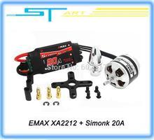 EMAX XA2212 820KV / 980KV / 1400KV Brushless Motor CW + Simonk 20A ESC for DJI F450 F550 RC Quadcopter helicopter(China (Mainland))