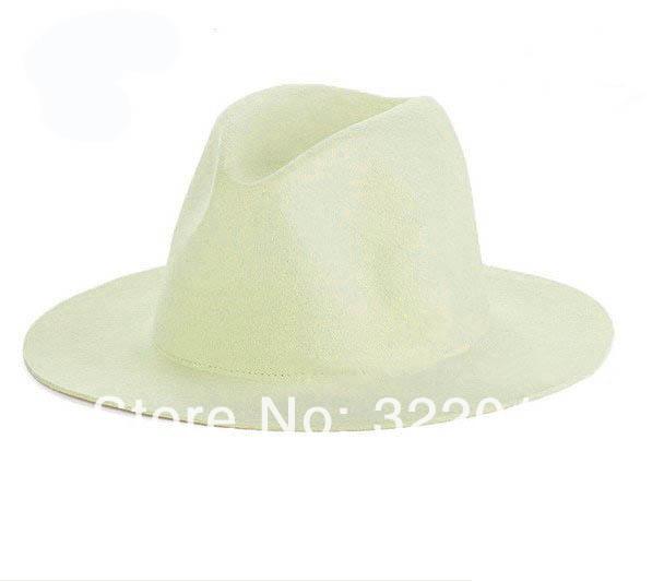 6pcs Styles Men Blank Wool Fedora Hats Fashion Women Winter Floppy Trilby Caps Mens Bucket Hat Felt Cap Womens Fedoras Autumn(China (Mainland))