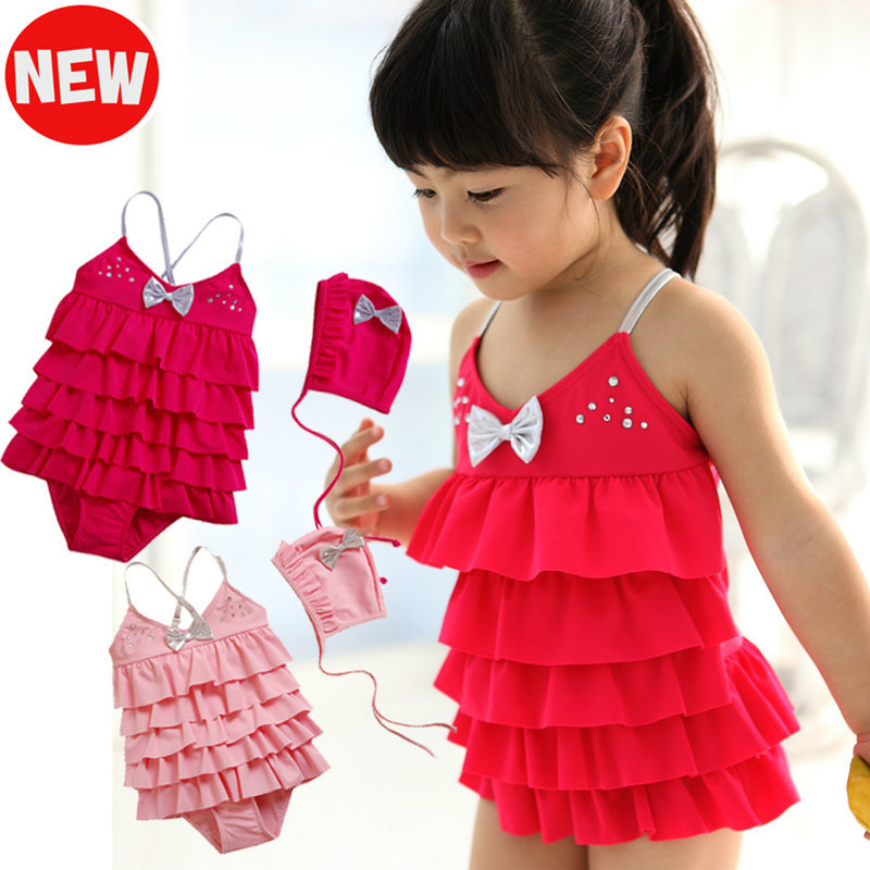 Free Shipping Korean Cute one-piece swimwear for baby girls kids baby spa bathing suit swimsuit babies summer Swimsuit 0-24month<br><br>Aliexpress