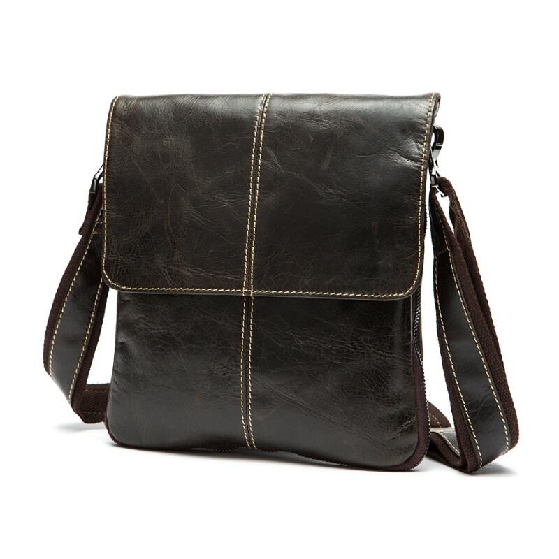 100% Genuine Leather men bags men's briefcase vintage men Messenger bag Shoulder Bag Ipad shoulder coffer cowhide leather bags