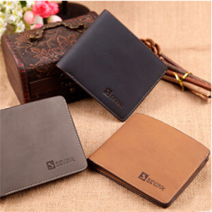 Stylish Classical men wallets card holder Casual Wallets For Men New Design Leather Top Purse Men Walet With Bag small wallet(China (Mainland))