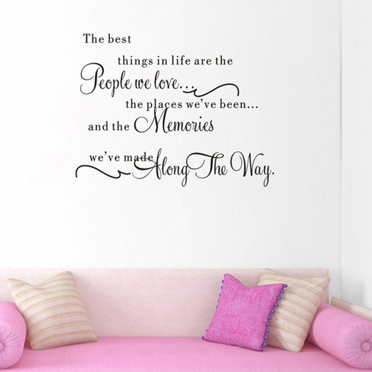 Quote The Best Things In Life Removable Wall Sticker Vinyl Art Decal Home Decor fashion Wall decoration HG-WS-1495(China (Mainland))