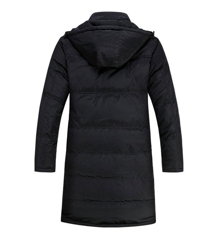 Мода парка пальто мужчины зимняя куртка мужская сгущаться 90% утка пуховики длинный плащ вниз - Большой размер для XXXXL
