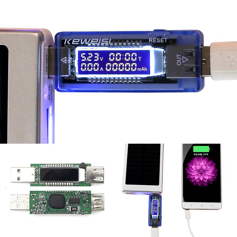 Hot 3 in 1 Battery Tester Voltage Current Detector Mobile Power Voltage Current Meter USB Charger Doctor