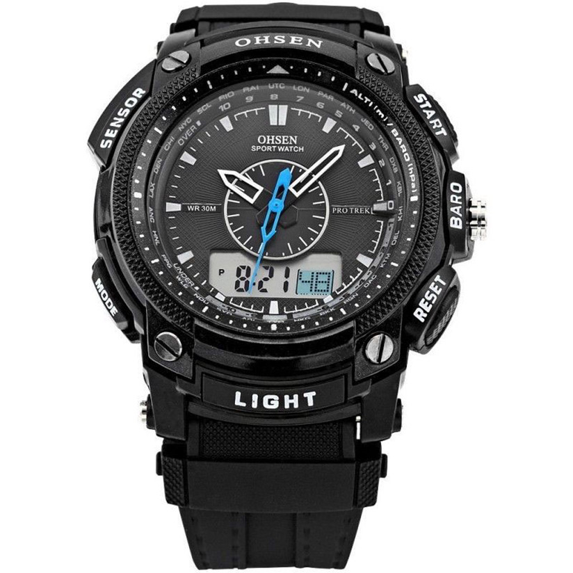 Hot Marketing Digital LCD Alarm Date Mens Military Sport Rubber Quartz Wrist Watch Aug7(China (Mainland))