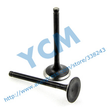 Engine Valve GY6 125CC Inlet Valve Exhaust Outlet Valve Scooter Engine parts Mope Wholesale YCM QM-GY125