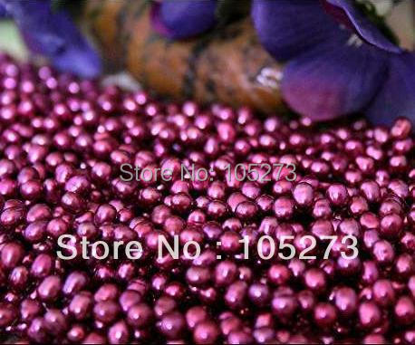New Arriver Pearl Jewelry 4-5MM Purple Briolette Freshwater Pearls Drop Loose Beads 15inch/String Wholesale Free Shipping
