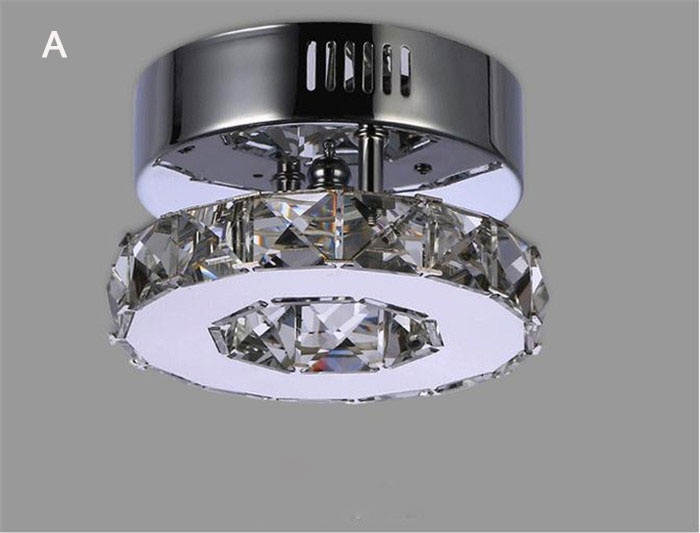 Minimalist Single ring D15cm crystal ceiling lamp led aisle lights Stainless steel corridor home balcony dining room lighting(China (Mainland))