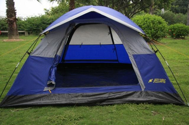 Promotion Double layer outdoor camping tent for fishing, hunting outdoor living house Free Shipping(China (Mainland))
