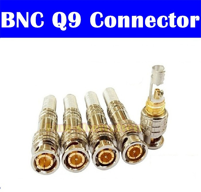 200pcs BNC Male Connector Plug to RG59 Coax Cable Coupler Adapter for CCTV Camera Solderless(China (Mainland))