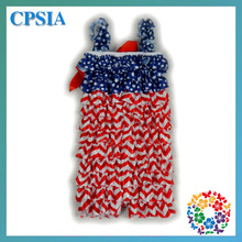 DHL Free Wholesale Baby 4th of July Romper 4th of July Outfit Petti lace romper Ruffle Romper first July 4TH outfit-300pcs/lot(China (Mainland))